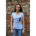 'Here is the Woman' Ladies Tee in Grey