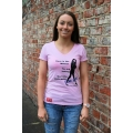 'Here is the Woman' Ladies Tee in Pink