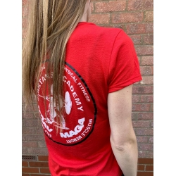 'Krav Maga' Ladies Tee in Red